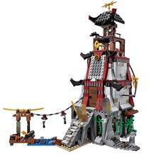 Ninja le phare siège ciel Pirates blocs de construction ensemble jouets compatibles Ninjagos Figures briques jouets pour enfants