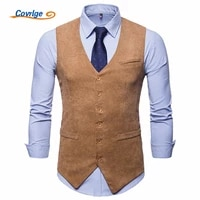 covrlge men corduroy suit vest mens weeding dress vests waistcoat man gilet business wedding tuxedo vest colete masculino mwx035