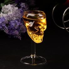 55ml Schedel Glazen Beker Bier Wijn Bar Schedel Glas Head Vodka Drinken Ware Thuis Bar Party Gift Artware Deco goblet Cups