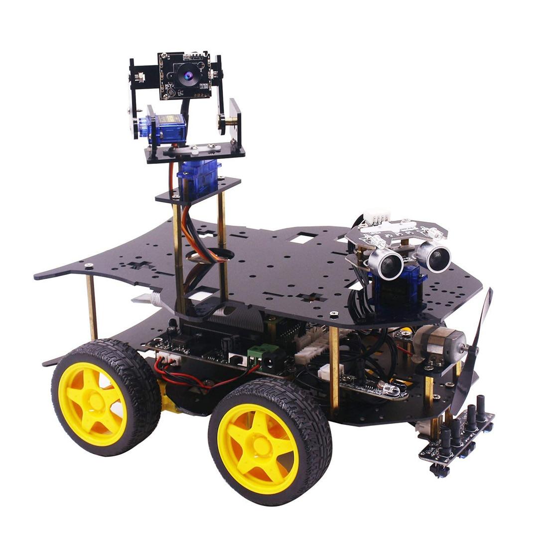 في نهاية المطاف كاتب عدة ل التوت بي HD كاميرا للبرمجة الذكية سيارة روبوت عدة مع 4WD لعبة للمراهقين (بدون: التوت بي)