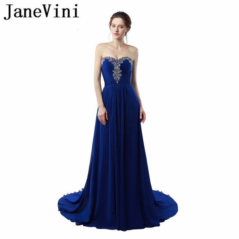 JaneVini Vestido azul real con cuentas De lentejuelas Madre De la Novia...