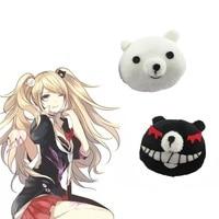 Cheap 1 Pair Dangan Ronpa Danganronpa Hair Clip Junko Enoshima Mono Kuma Mono White Black Bear Anime Cosplay Headwear Girl Gift