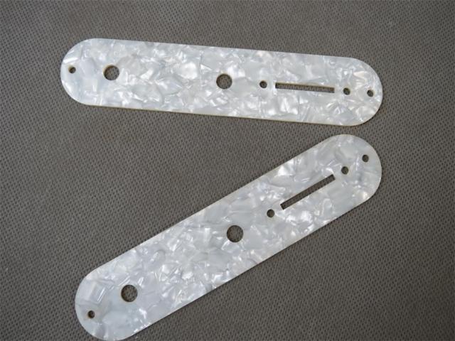 2PCS White Pearl CELLULOID Guitar Tele Telecaster Control Plate,guitar part