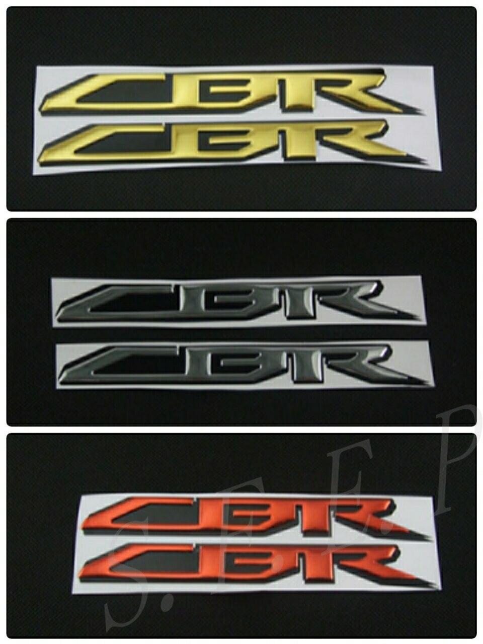 Emblema de la motocicleta etiqueta 3D del tanque de la rueda del logotipo para Honda CBR1000RR CBR600RR CBR650F CBR500R CBR300R CBR250R CBR954RR etiqueta engomada