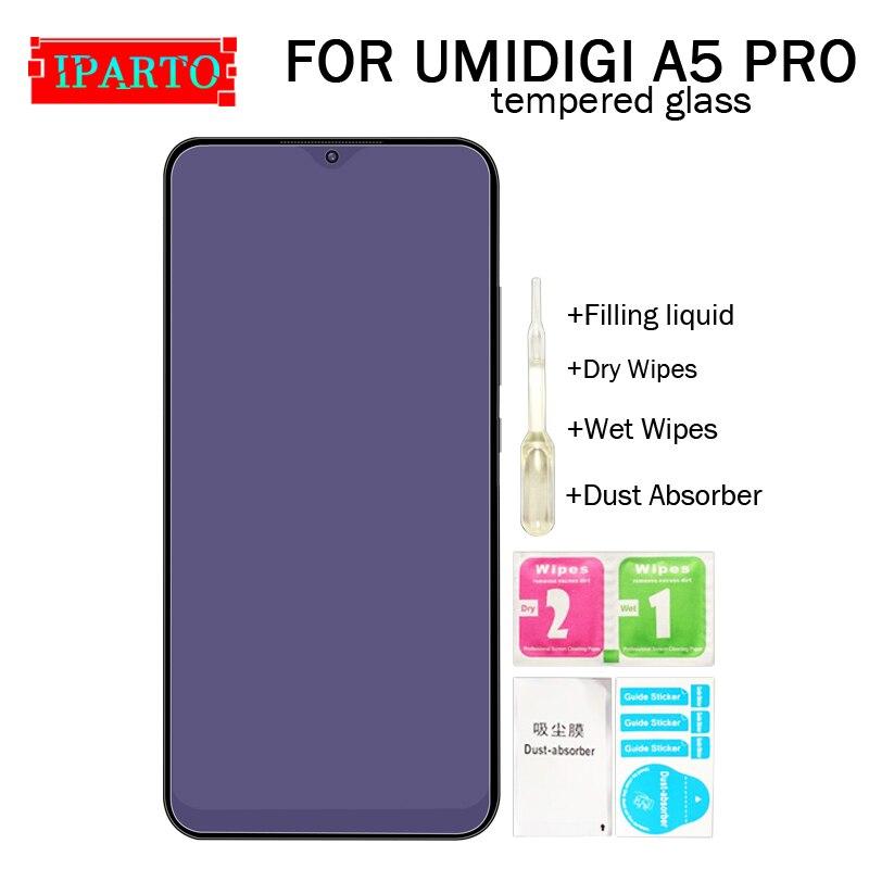 UMIDIGI A5 PRO закаленное стекло 100% хорошее качество премиум 9H защитная пленка аксессуары для A5 PRO (не 100% покрытие)