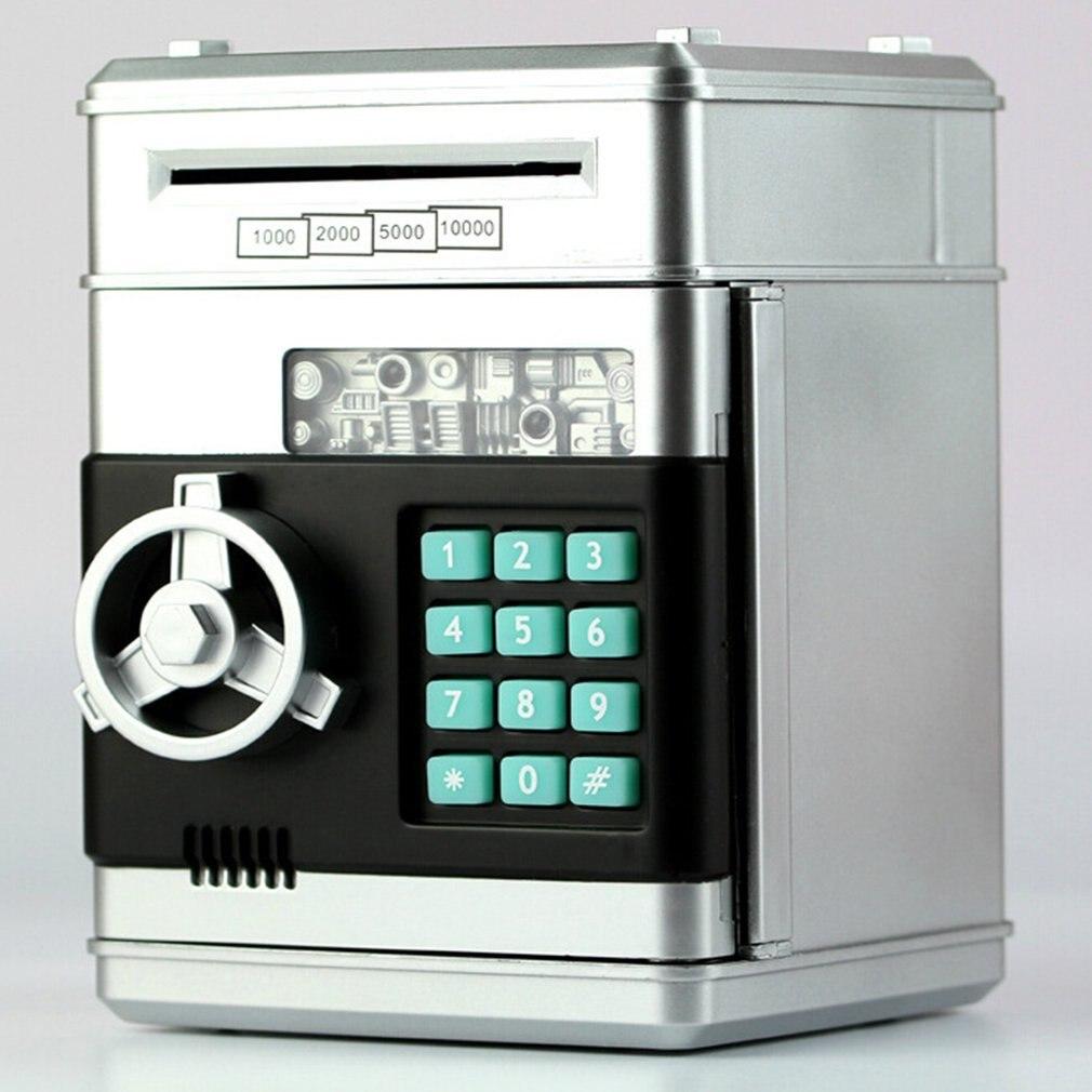 Hucha electrónica caja fuerte de Banco de dinero para niños monedas digitales ahorro de efectivo caja fuerte Cajero Automático máquina chico regalo de Navidad