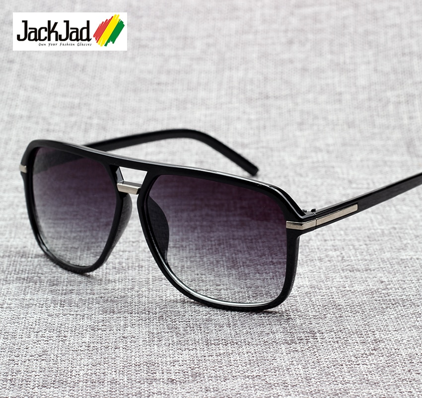 JackJad 2020 Fashion Men Cool Square Style Gradient Sunglasses Driving Vintage Brand Design Cheap Su
