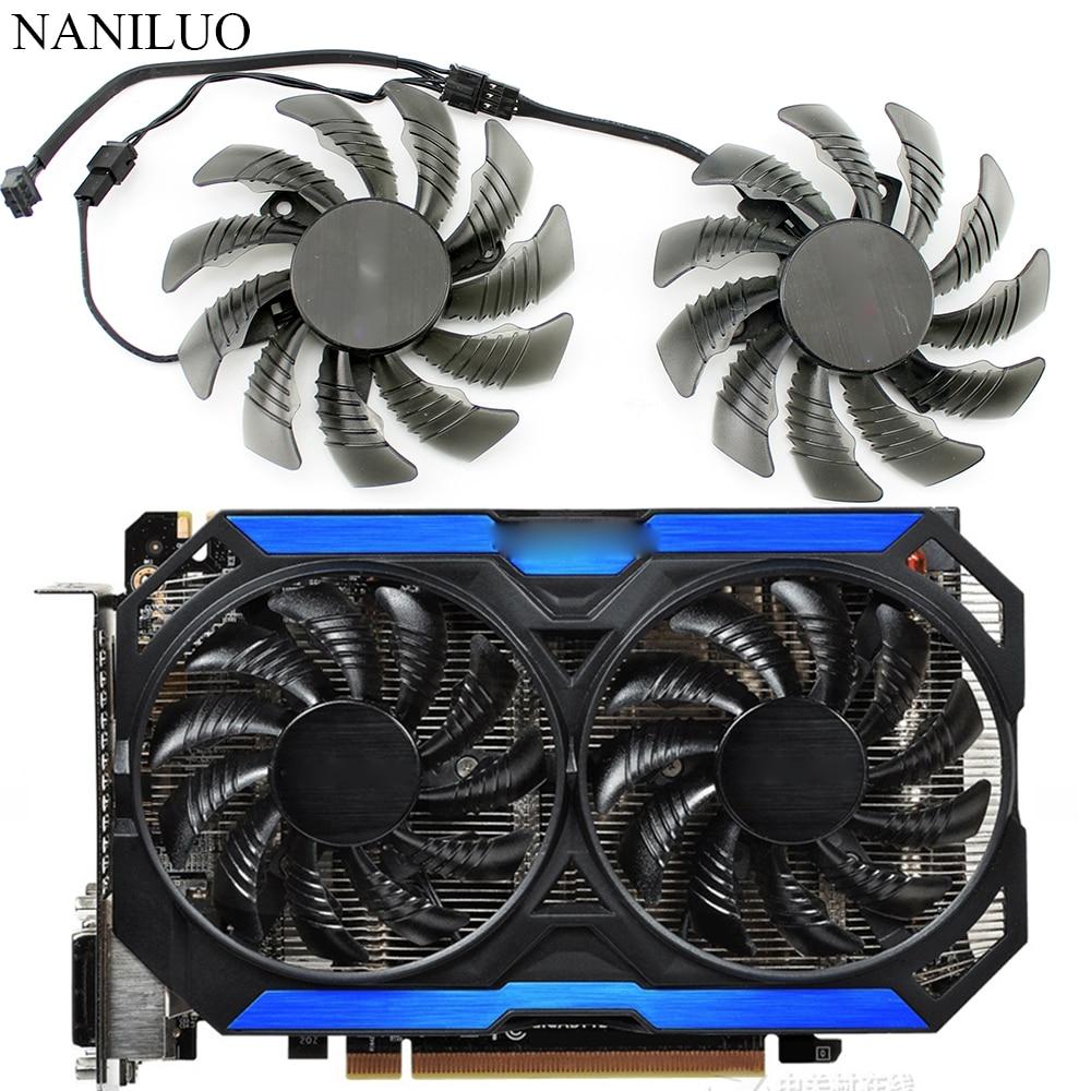 free shipping t128010sm 75mm dc12v 0 20a 40 40 40mm for gigabyte graphics card cooler cooling fan 78MM T128010SM GTX960 FAN 12V Cooling Fan GV-N960OC For Gigabyte GTX 960 fan  Graphics Video Card Cooler Fan PLD08010S12H fan