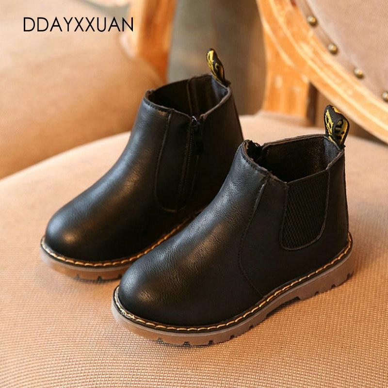 2017 New Children boots boys girls shoes hot fashion Martin australia boots single low short botas kids baby nina autumn shoes