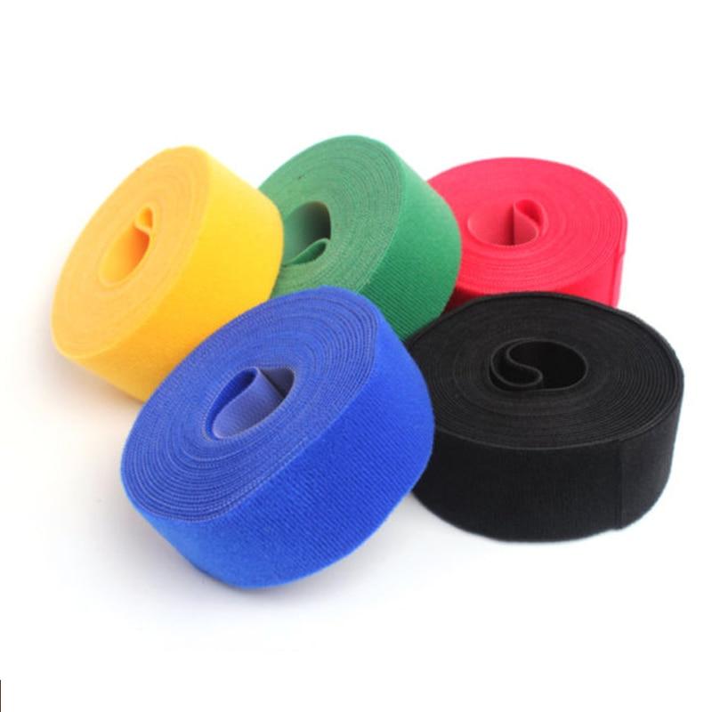 Gancho y lazo adhesivo de nailon de doble cara colorido con Cinta ajustable para coser, sujetadores a presión, accesorios de costura, herramientas de corte