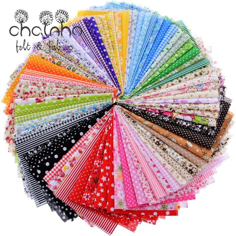 Random Thin Cotton Fabric Patchwork For Sewing Scrapbooking Fat Quarters Tissue Quilt Pattern Needlework Scraps 80pcs 20*24cm