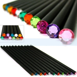 12Pcs/Set Pencil Hb Diamond Color Pencil Stationery Items Drawing Supplies Cute Pencils For School  Office School Cute