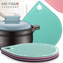 ME.FAM Water Drop Silicone Mat Non-slip Heat Insulation Placemat Bowl Plate Pad Cafe Restaurant Office Home Desktop Decoration