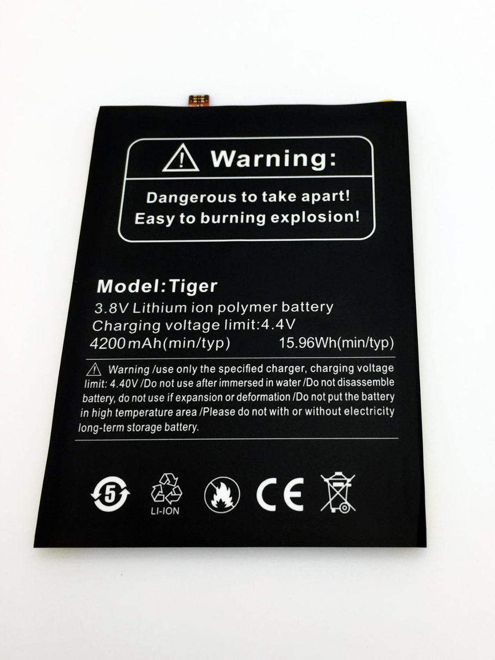 "Original ulefone tiger bateria 4200mah 3.8 v para ulefone tiger telefone móvel 5.5 ""hd mtk6737 quad core android 6.0"