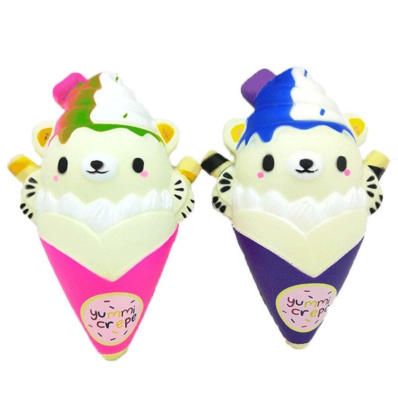 Игрушки для сжигания мороженого Kawaii, игрушки для приучения к торту с мишкой, ароматизированный крем для снятия стресса, сжимающий и сжимающий слайм, 2019