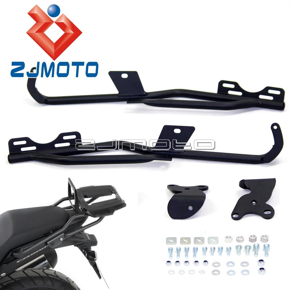 Kit de Rack de acero negro para equipaje trasero de motocicleta, personalizado para Honda CB500X CB500XA 2013-2016, soporte de soporte, estante de soporte