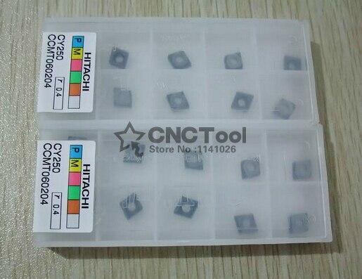 Бесплатная доставка! HITACHI 10 шт. CCMT060204 CY250 токарный станок Режущий инструмент лезвие с ЧПУ твердосплавный режущий инструмент вставки