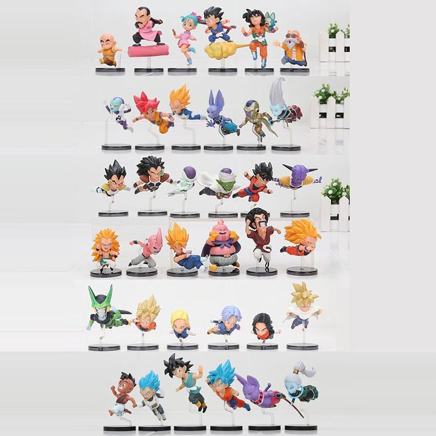 36 шт./компл. Драконий жемчуг Z история Goku Majin Buu Vegetto Frieza Raditz Piccolo Vegeta ПВХ фигурка игрушка модель коллекции