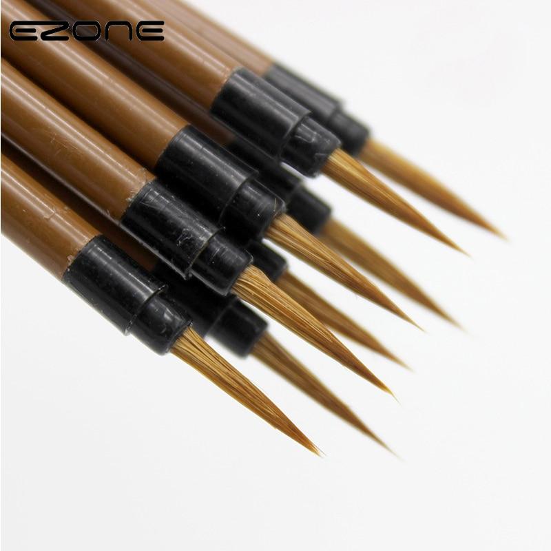 Ручка для каллиграфии EZONE Wolf, стальной стержень, кисть для рисования с крючком, принадлежности для рисования акварелью