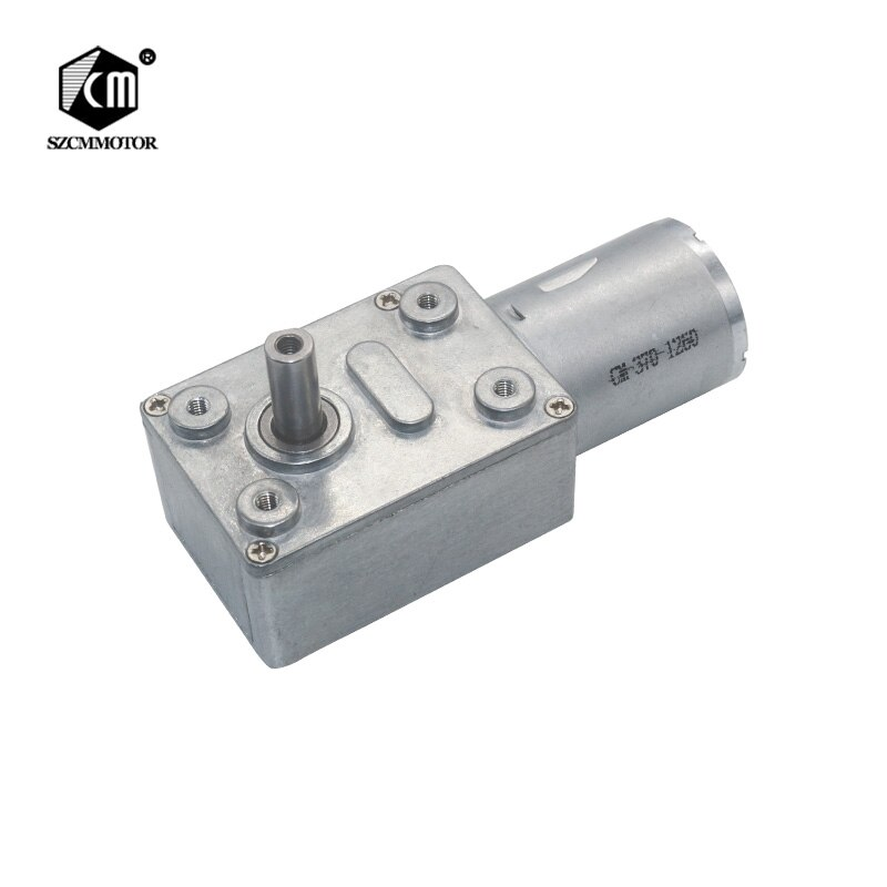 6V 12V 24V 2RPM to 150RPM DC Worm Drive Reduction Gear Motor Low Speed for DIY Gearmotors JGY370 Wor