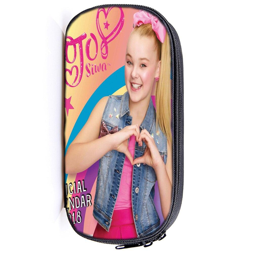 Bolsa de lápiz de Jojo Siwa caliente para niños, niñas, estudiantes, bolsa de papelería, estuche de lápices de alta calidad, hermosa BOLSA DE LÁPIZ, bolsa multifunción