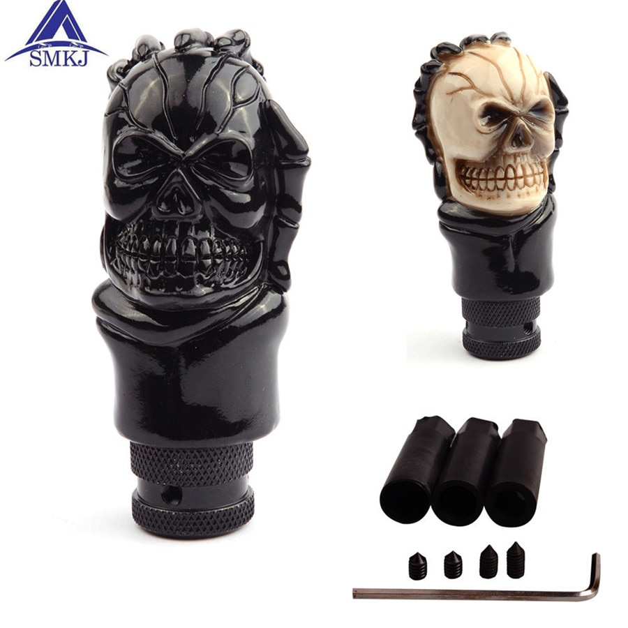 Black Cool Skull Car Styling Car Shifter Knob Universal For Most Manual Car Bouton de changement de vitesses For Audi Mazda Kia