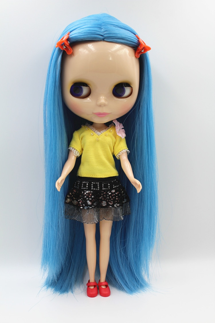 Кукла Blygirl, синяя, средней длины, модная, для макияжа