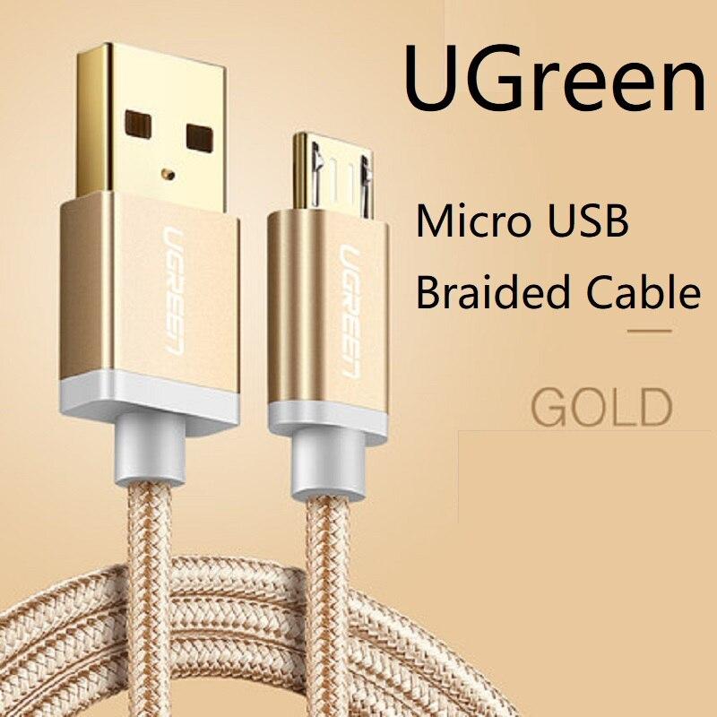 Ugreen Cable Micro USB de Nylon cargador de Cable trenzado USB a...