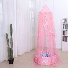 أطفال لعبة خيمة تيبي مستديرة الأميرة القلعة الطفل تلعب منزل خيمة المظلة سرير طفل شبكة معلقة قبة غرفة الأطفال ديكور