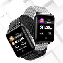 M19 Smart Watch Blood Pressure Men Heart Rate Sports Smart Bracelet Pedometer IP67 Waterproof Blueto