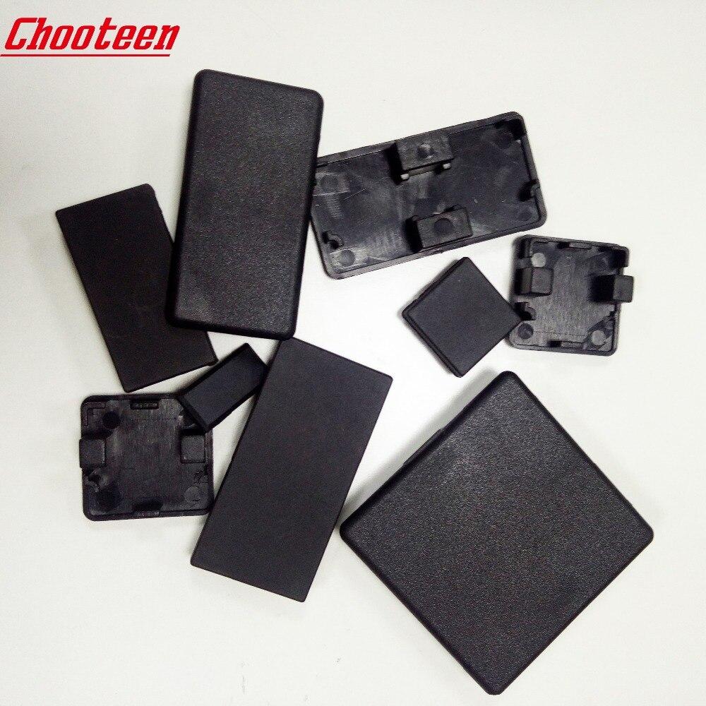 Cubierta de tapa de plástico de nailon, placa negra para ranura 6/8/10mm perfil de aluminio europeo 2020/2040/3030/3060/4040/4080/4545/5050/6060/8080