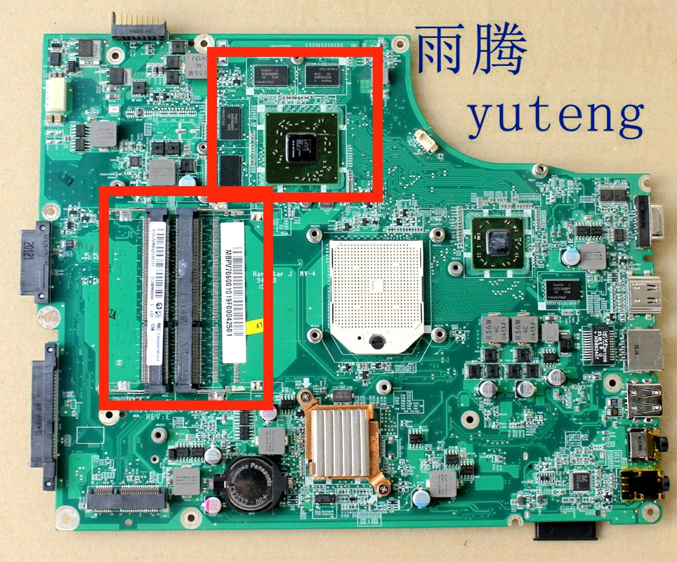DA0ZR8MB8E0 MBPV706001 MB. PV706.001 placa base para aspire 5553 5553G laptop motherboard tarjeta ATI DDR3 2 ranura de memoria