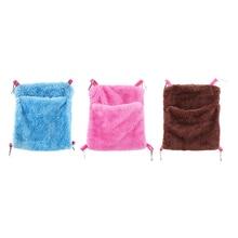 Soft Coral Velvet Dutch Pig Squirrel Chinchillas Hamster Cage Hanging Sleeping Bag Carrier Mini Animal Housing Pocket Bed