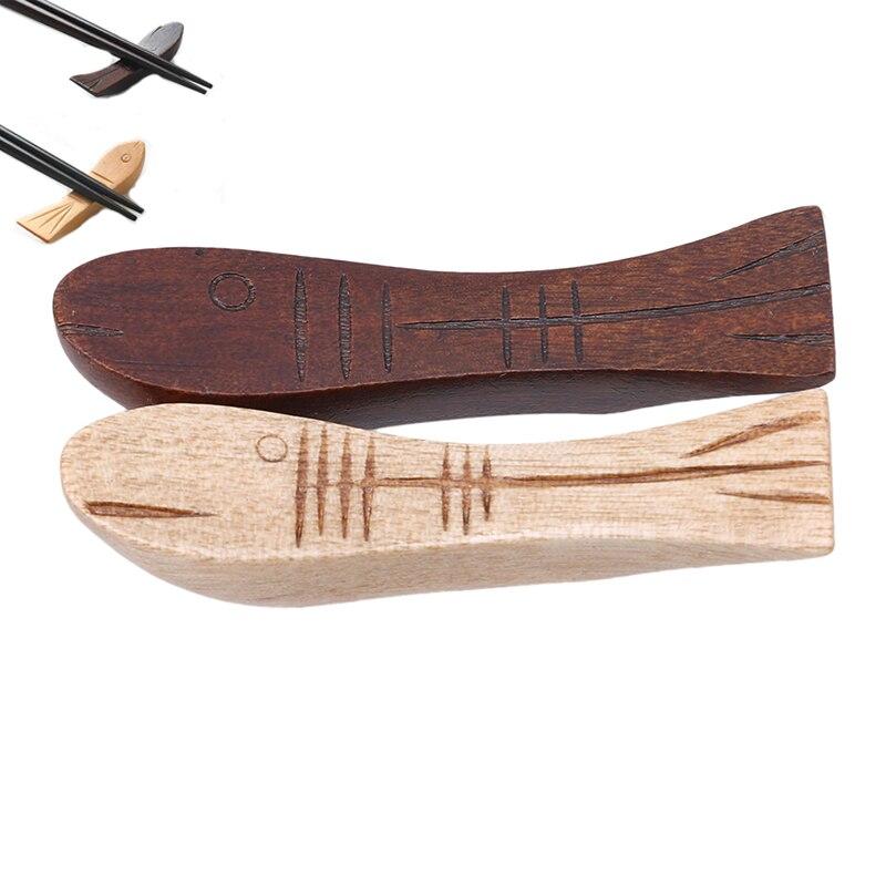 Accesorios de cocina, cuchara, tenedor, palillos, soporte, palillos en forma de Pescado de madera, soporte, estante de descanso, Decoración de mesa