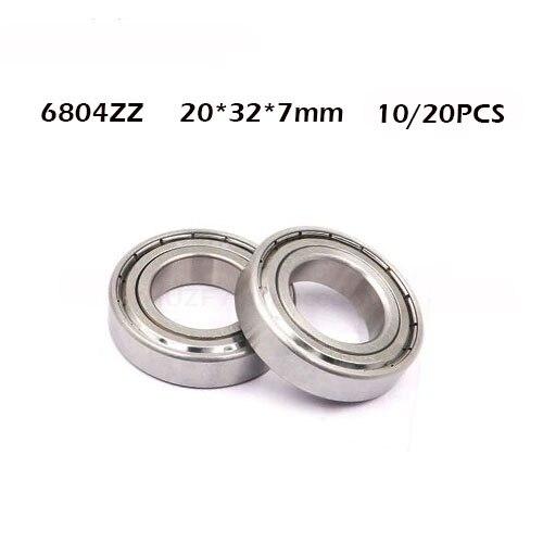 10pcs or 20pcs 6804 6804ZZ 6804RS 6804-2Z 6804Z 6804-2z ZZ 2RZ Deep Groove Ball Bearings 20 x 32 x 7mm High Quality