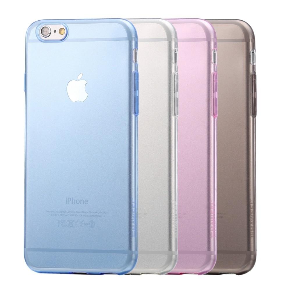HAWEEL 0,3mm funda de silicona transparente TPU carcasa para iPhone 6 6s 4,7 pulgadas teléfono