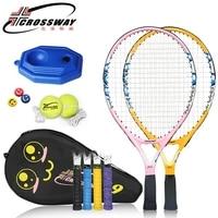 1pc high quality tennis racquet light weight fitness training racket kids youth child tennis rackets outdoor sports