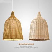 Chinese Style Bamboo Pendant Lights modern wood Dining Room Kitchen Hanglamp Decor living room Rattan Balcony Lighting Fixtures