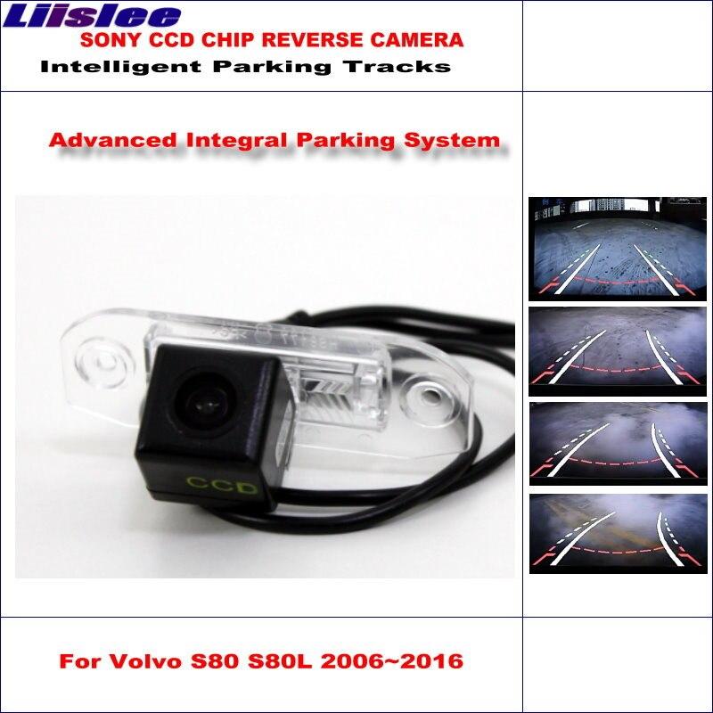 Cámara trasera para coche Liislee para Volvo S80 S80L 2007 ~ 2016 vías inteligentes de aparcamiento Cámara reversa de respaldo/guía dinámica