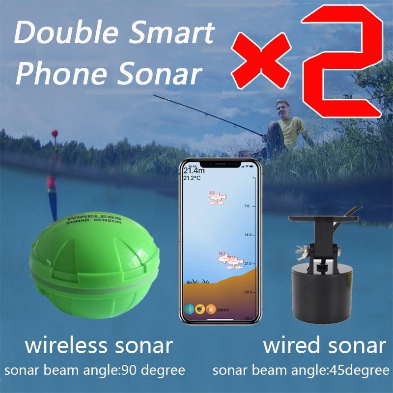 ¡Nuevo! Sensor de Sonar para teléfono inteligente con Bluetooth, Android e Ios buscador inteligente de peces, pesca Visual, envío gratis