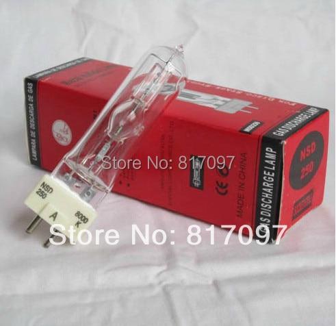 NSD 250W cabeza movil lampara18000lm GX9.5 8000k cabezas moviles bulbo lamparas de iluminacion luces discoteca