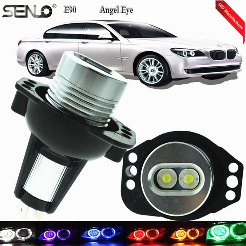 1 par de bombillas LED blancas E90 para coche Angel Devil Eyes, lámpara modificada para BMW E92 316i 318d 318i 328xi 330d 330i de 6000k y 6 vatios