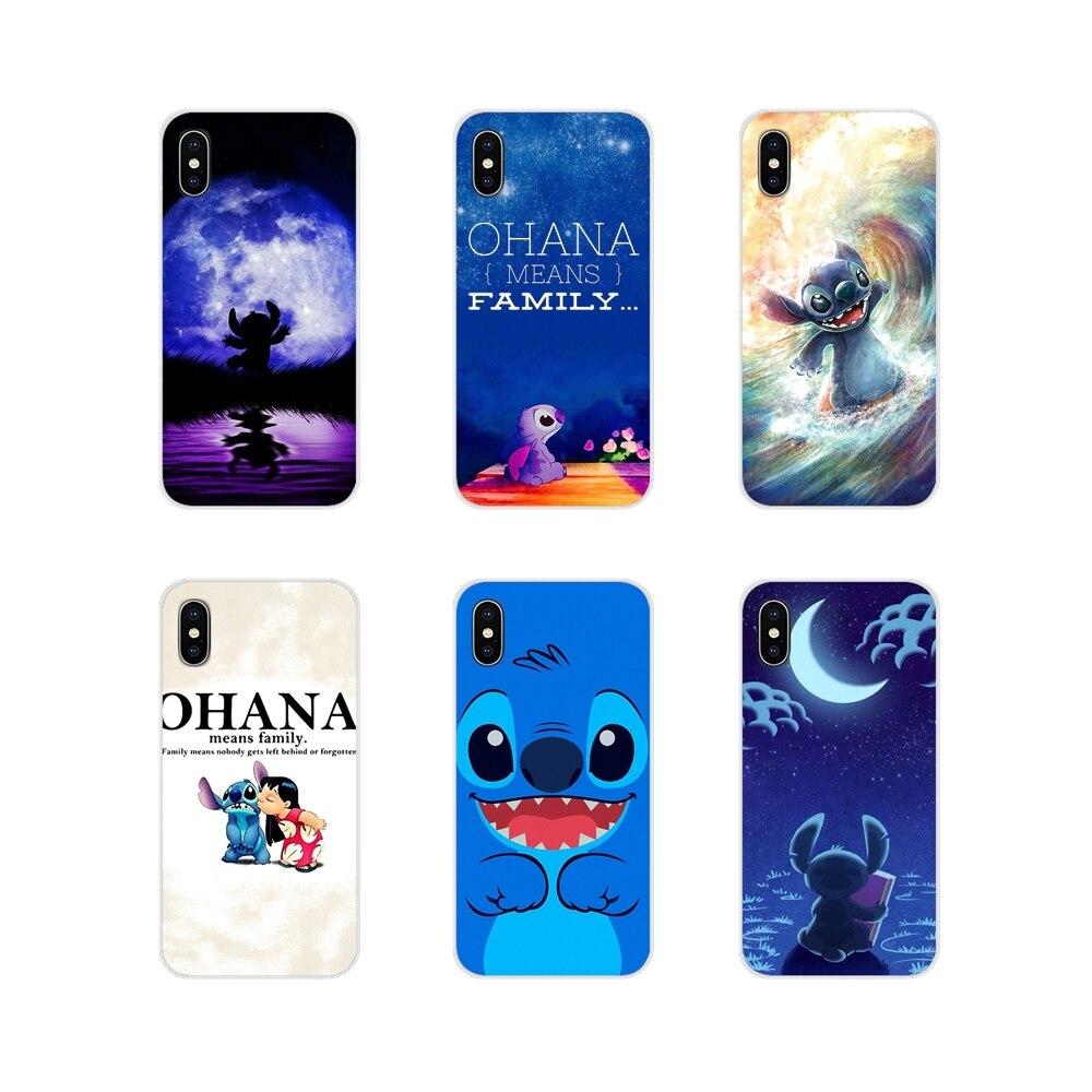 Para Motorola Moto X4 E4 E5 G5 G5S G6 Z Z2 Z3 G3 G2 C jugar Plus casos de teléfono cubre Lilo y stitch Ohana