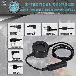 Ztac Produção Elemento ZTci Táticas Militares Regras Walkie-talkie Walkie-talkie Fone de Ouvido PTT Lançamento Botão Interruptor Z114