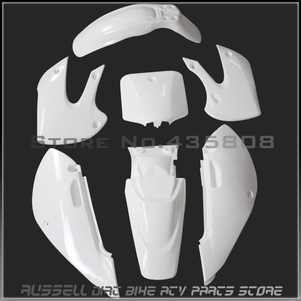 KLX110 plástico Fenders covers KITS para Kawasaki KLX 110 KX65 Suzuki DRZ 110 DRZ110 Pit bike peças de plástico Acessórios
