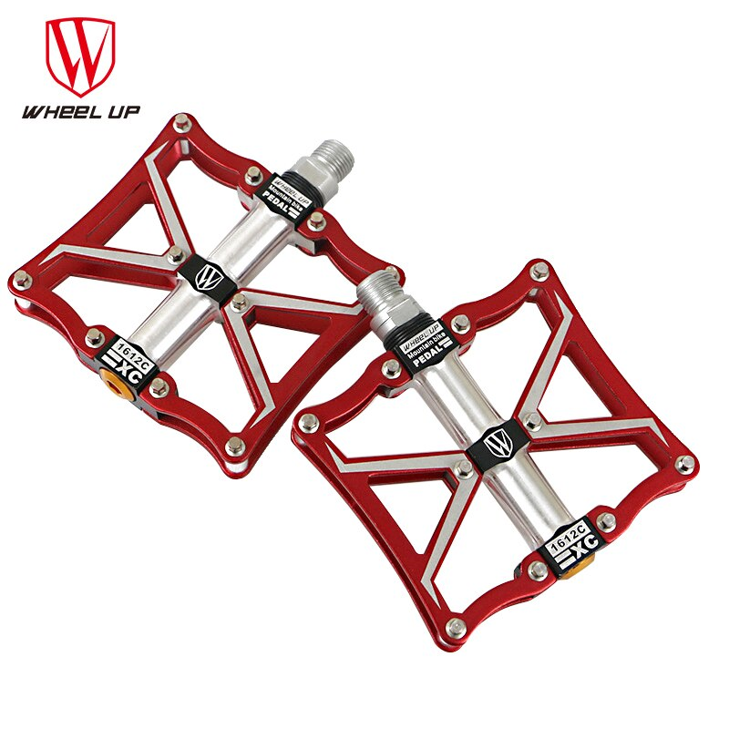 WHEEL UP 3 bearings Aluminum bike pedals CNC bmx road mtb mountain cycle pedals bike parts top quality titanium 8 Colors