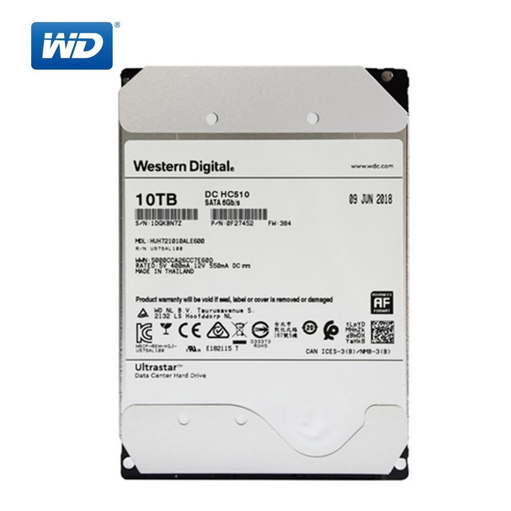 Western Digital 1 ТБ Ultrastar DC HC530 Внутренний SATA HDD 7200 об/мин Класс SATA 6 ГБ/сек. 512 МБ кэш 3,5