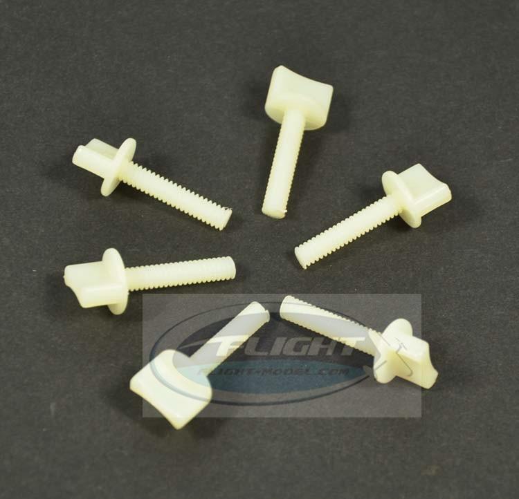 Zyhobby 10pcs/lot M4 M6 Nylon Plastic Bolt Hand Thumb Screw For RC Airplane