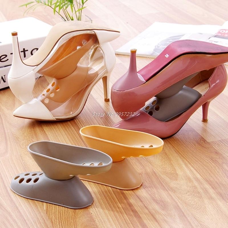 Creative style space-saving plastic high heel shoe rack/organizer storage stand/shelf holder  Z07 Drop Shipping