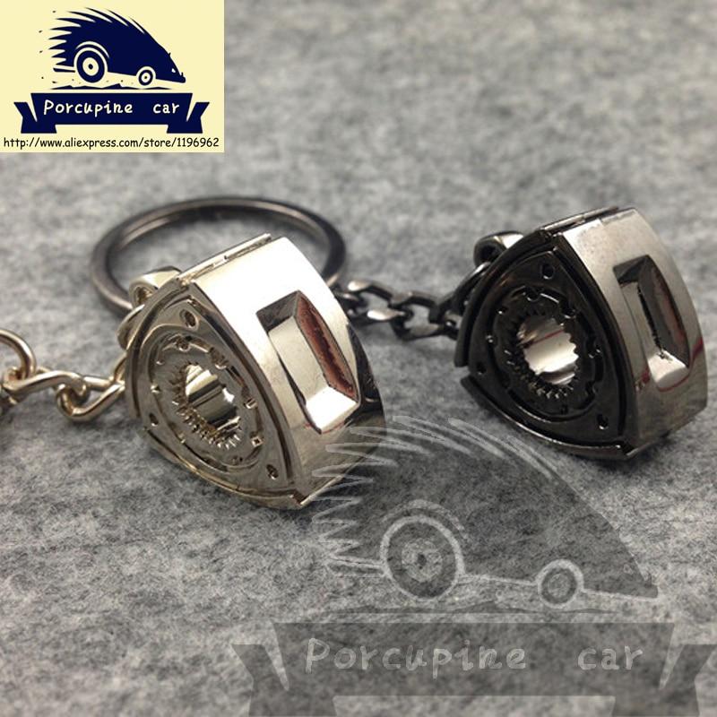 Автомобильный брелок, аксессуары на цепочке для ключей от автомобиля, для Mazda RX8 236 Atenza Axela, Вращающийся брелок для ключей, мотор wankel, ротор, турбо брелок, детали